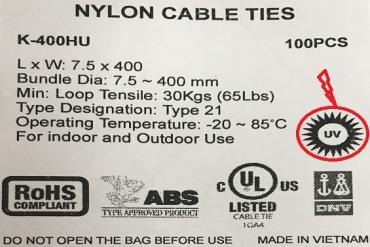 Phân biệt dây rút nhựa ngoài trời và dây rút nhựa thông thường